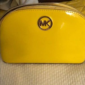 Michael Kors Bright Yellow make-up bag